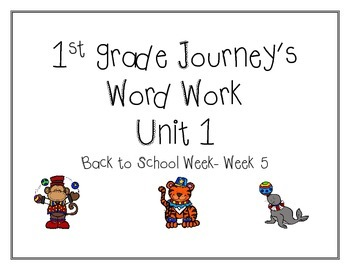 Word work Journey's Unit 1