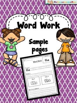 Word work -sample