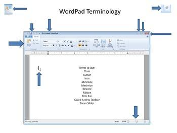 WordPad Computer Terminology Worksheet