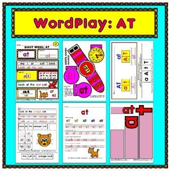WordPlay: AT (Sight Word activities)