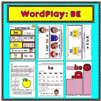 WordPlay: BE (Sight Word activities)