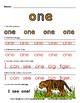 WordPlay: ONE (Sight Word activities)