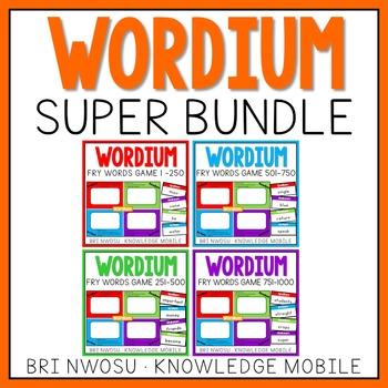 Wordium - A Fry Words Game - Super Bundle - Level 1-4  - W