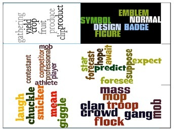 Wordle Synonym Task Cards