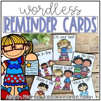 Wordless Reminder Cards