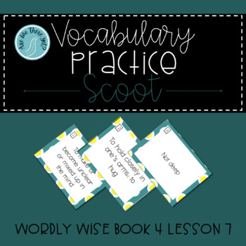 Wordly Wise Book 4 Lesson 7 Vocabulary Scoot Review Game