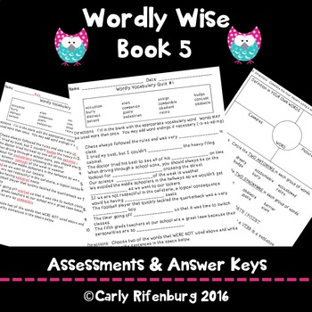 Wordly Wise Book 5 Quizzes ***GROWING BUNDLE***