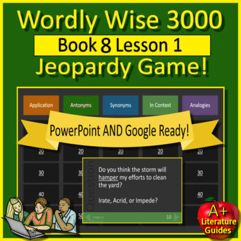 Wordly Wise 3000 Game -  Review Book 8 Lesson 1