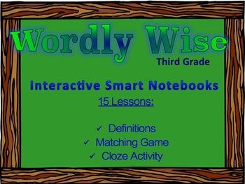 Wordly Wise Third Grade (Book Three) Supplemental Smart Notebooks