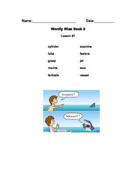 Wordly Wise Vocabulary Packet Cover Pages Grade 3