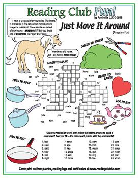 Wordplay (Anagrams) Crossword Puzzle