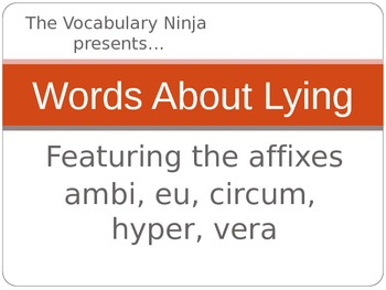 Words About Lying