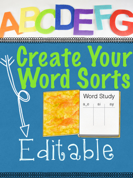 Words Sorts Creator!!  Auto-Populating Create Your Own Wor