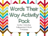 Words Their Way Activity Pack