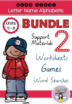 Word Study Games & Worksheets - Letter Name Alphabetic BUNDLE 2