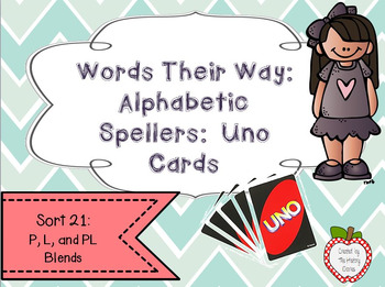 Words Their Way: Alphabetic Spellers: Sort 21: P, L, and P