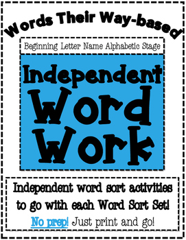 Words Their Way Based Independent Word Work-Beginning Lett