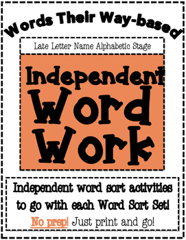 Words Their Way Based Independent Word Work-Late Letter Na