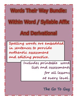 Words Their Way Bundle:  Assessments (in Context) and Words Lists