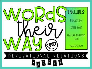 Words Their Way Derivational Relations Challenge Sort