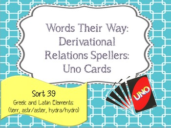 Words Their Way:Derivational Relations:Sort 39: Greek and
