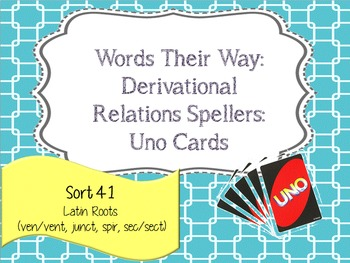 Words Their Way:Derivational Relations:Sort 41: Latin Roots