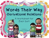 Words Their Way - Derivational Relations Spellers - A Work