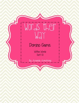 Words Their Way Domino Game (Within Word Patterns) FREEBIE!