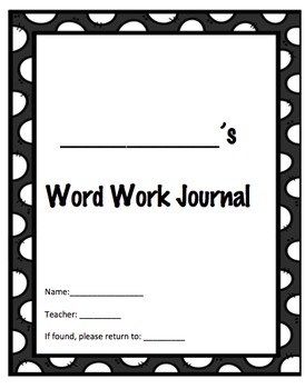 Differentiated Word Work Journal with Activity Guides