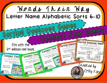 Words Their Way - GAME BUNDLE - Letter Name Alphabetic - S