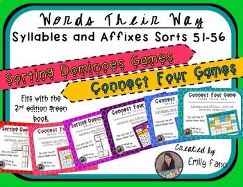 Words Their Way - GAME BUNDLE - Syllables and Affixes - So