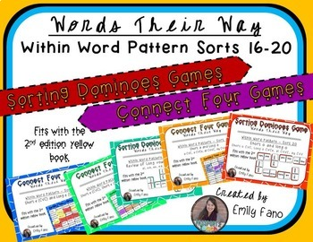Words Their Way - GAME BUNDLE - Within Word Pattern - Sort