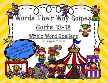 Words Their Way Games for Unit 3 Sorts 13-18 in Within Wor