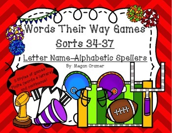 Words Their Way Games for Unit 5 Sorts 34-37 in Letter Nam
