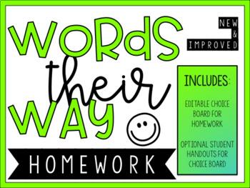 Words Their Way & General Spelling Homework