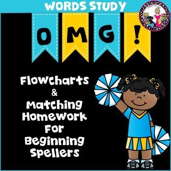 Homework Helper & Matching Flowcharts for Independence!