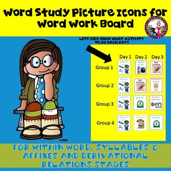 REVISED! Picture Icons for Word Work Boards!