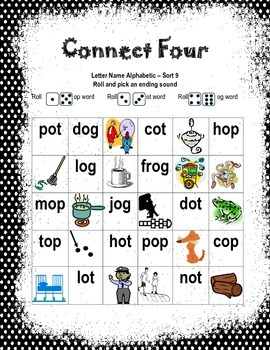 Words Their Way Letter Name Alphabetic Sort 9 Game