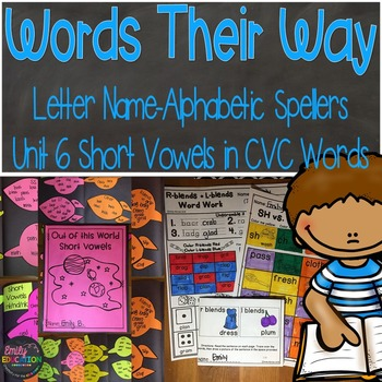 Words Their Way Letter Name Alphabetic Spellers Short Vowe