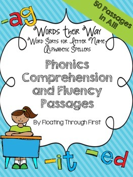 Words Their Way Phonics Comprehension and Fluency Passages