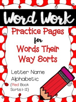 Word Work Pages for Words Their Way {Letter Name Alphabeti