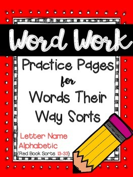 Word Work for Words Their Way {Letter Name Alphabetic:Red