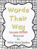 Words Their Way Resources Sample FREEBIE- Within Word Sort