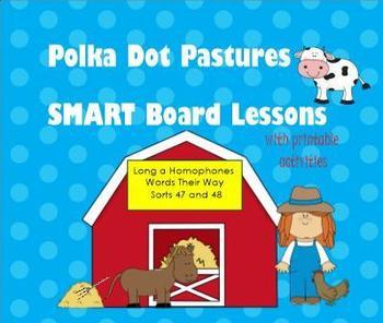 Homophones:  Polka Dot Pastures SMART Board Activities