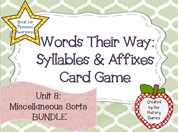 Words Their Way: Syllables & Affixes: Unit 8: Miscellaneou
