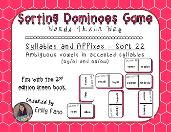 Words Their Way - Syllables and Affixes - Sort 22 Dominoes