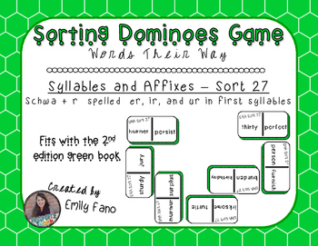 Words Their Way - Syllables and Affixes - Sort 27 Dominoes