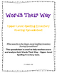 Words Their Way - Upper-Level Spelling Inventory Scoring S