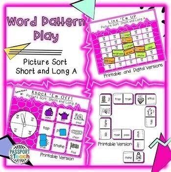 Words Their Way - Within Word Pattern - Sort 1 Dominoes