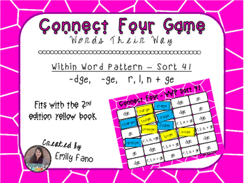 Words Their Way - Within Word Pattern - Sort 41 Connect Four